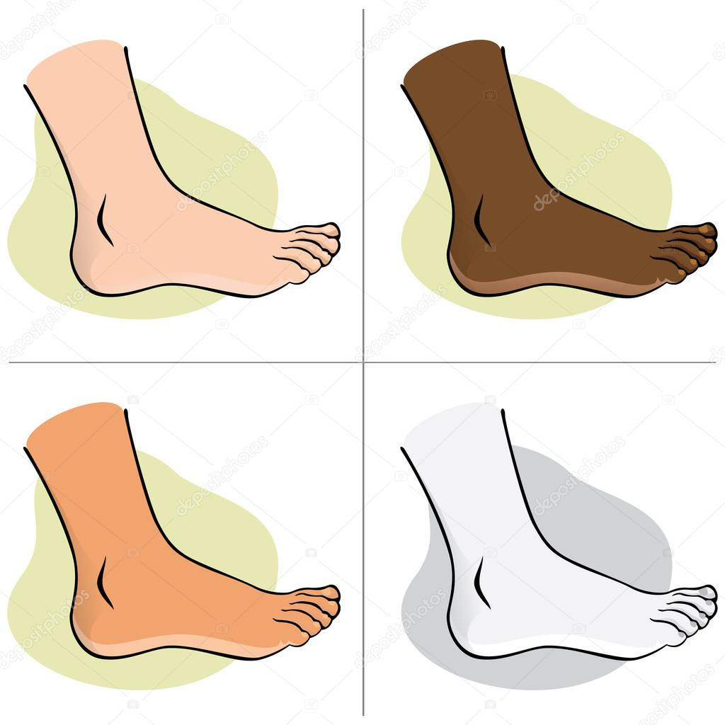 feet clipart side view