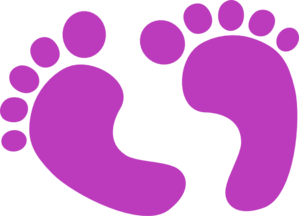 Feet clipart small foot. Purple