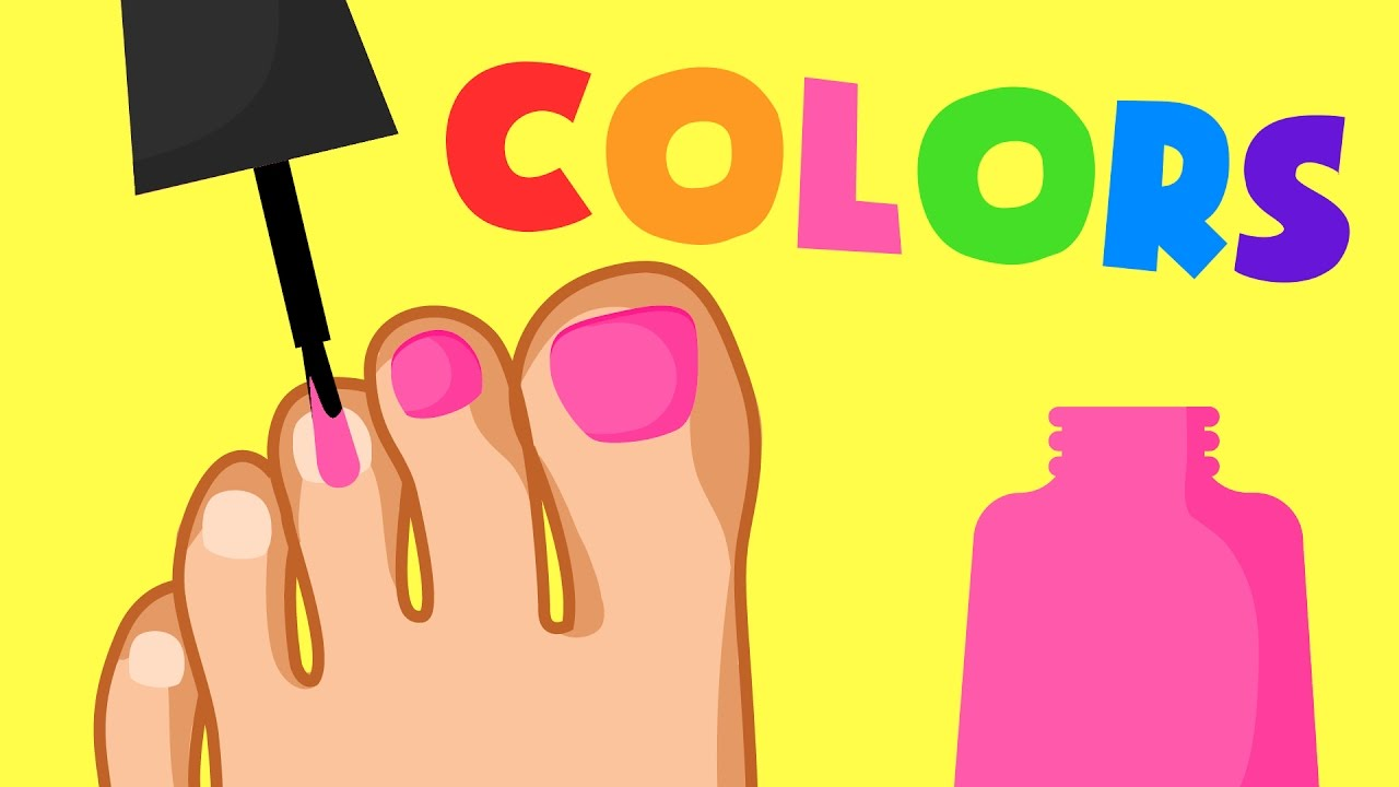 Feet clipart toenails. Learn colors painting toes