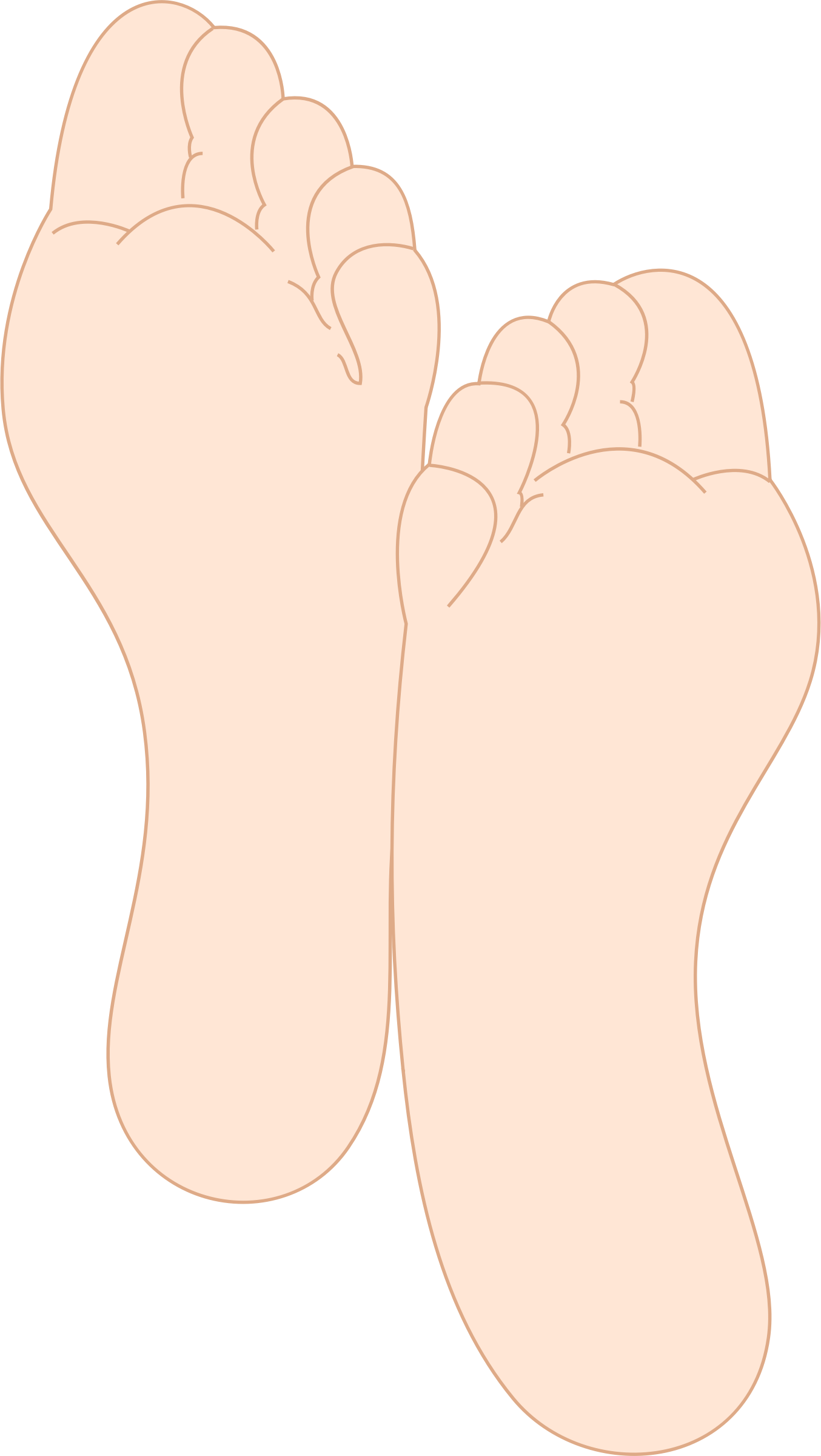 Transparent foot soles. Feet icons png free