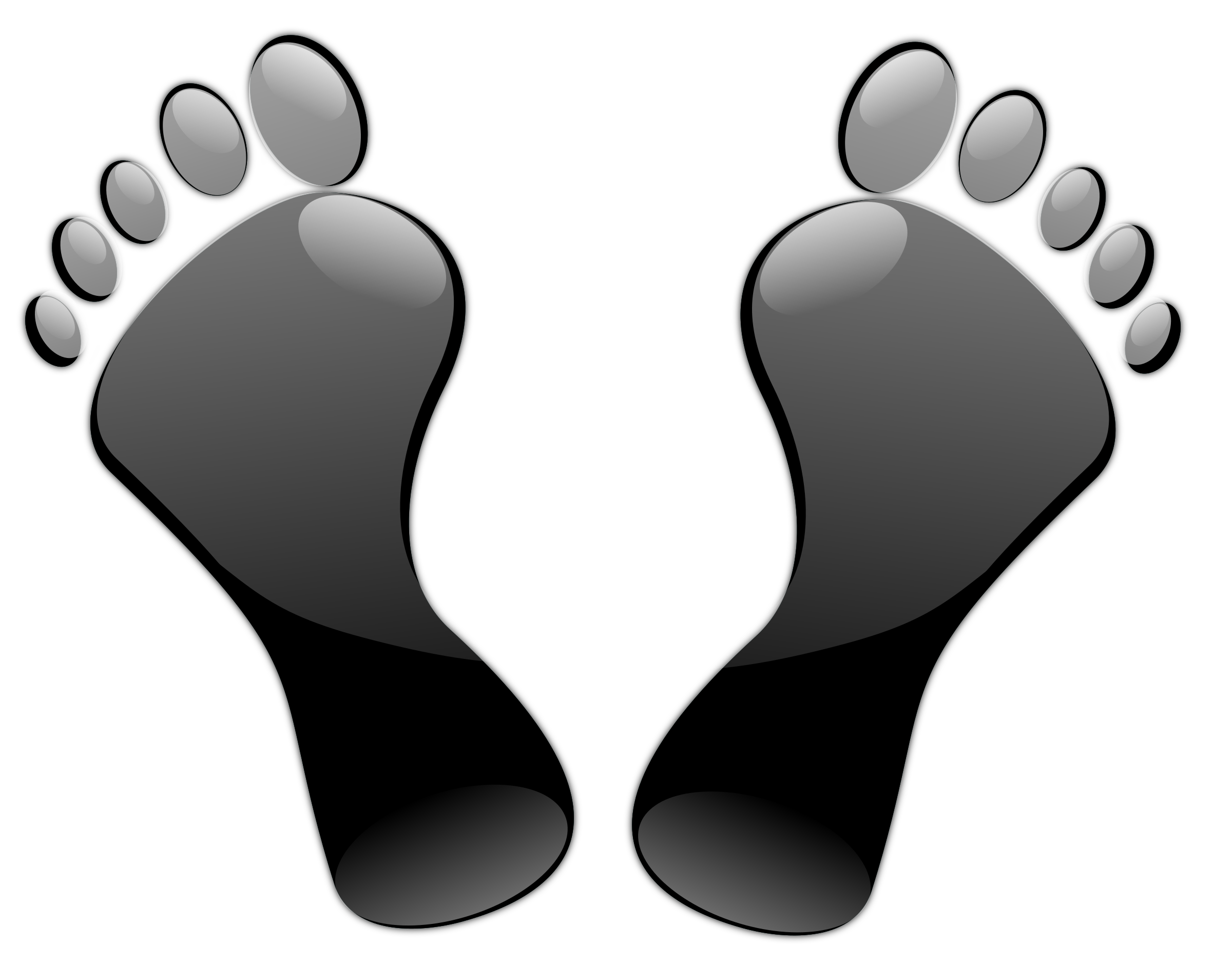 Foot clipart bottom foot. Black feet icons png