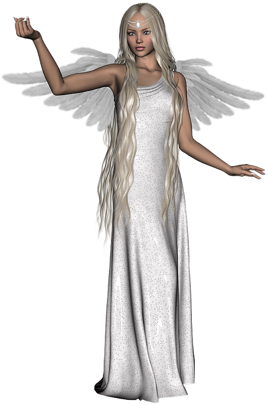 Female angel png.