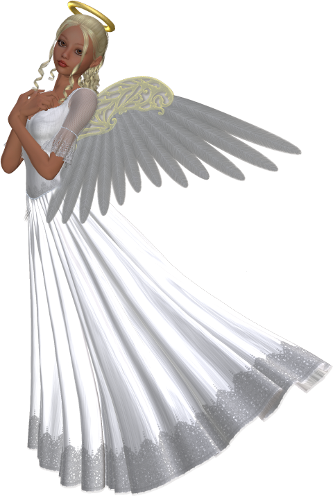 Female angel png. Beautiful d clipart gallery