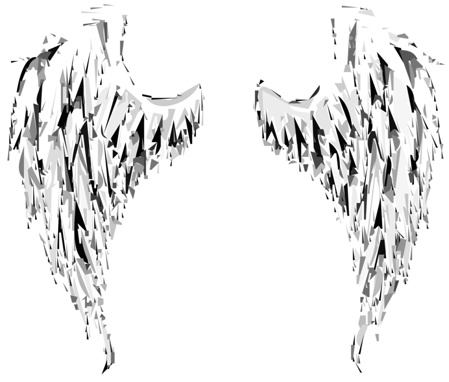 Female angels gliding art png. Angel sticker wing paper
