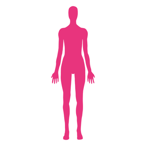 Medical clip leave in body. Female pose transparent png