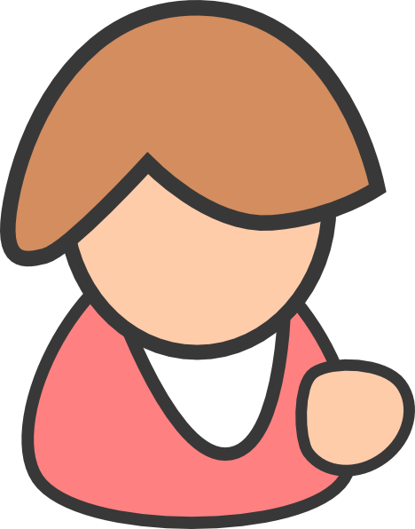 Female clipart. Business person