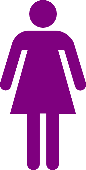 Female clipart. Purple icon