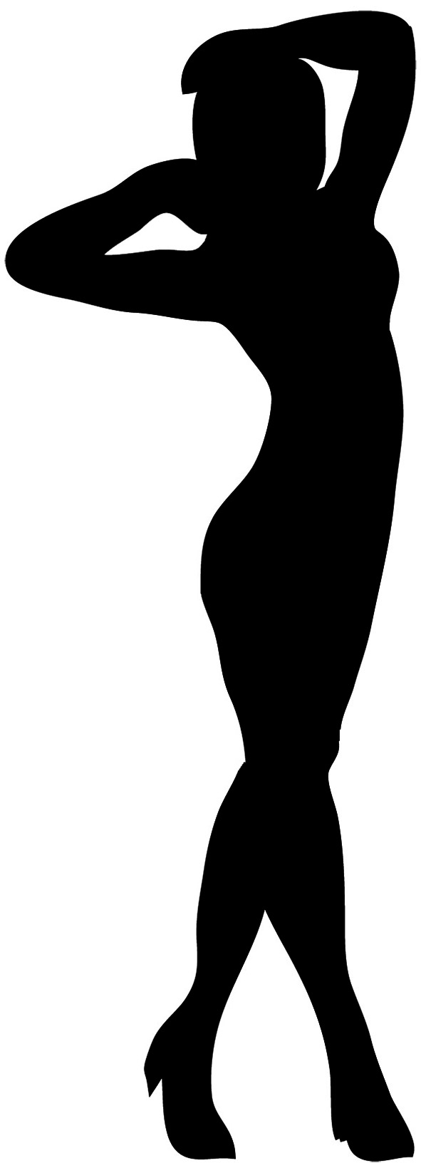 Female clipart. Silhouette at getdrawings com