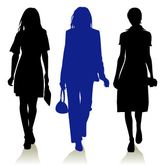 Female clipart. Women clip art walking
