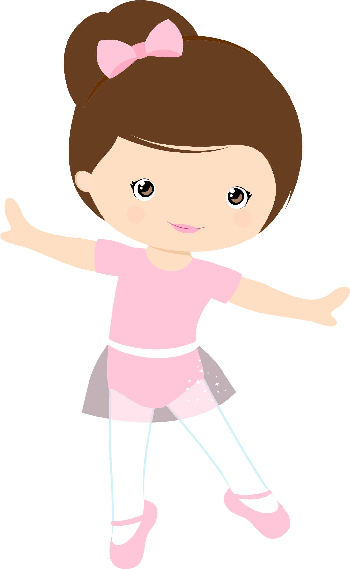 Female clipart dancing. Little girl clip art