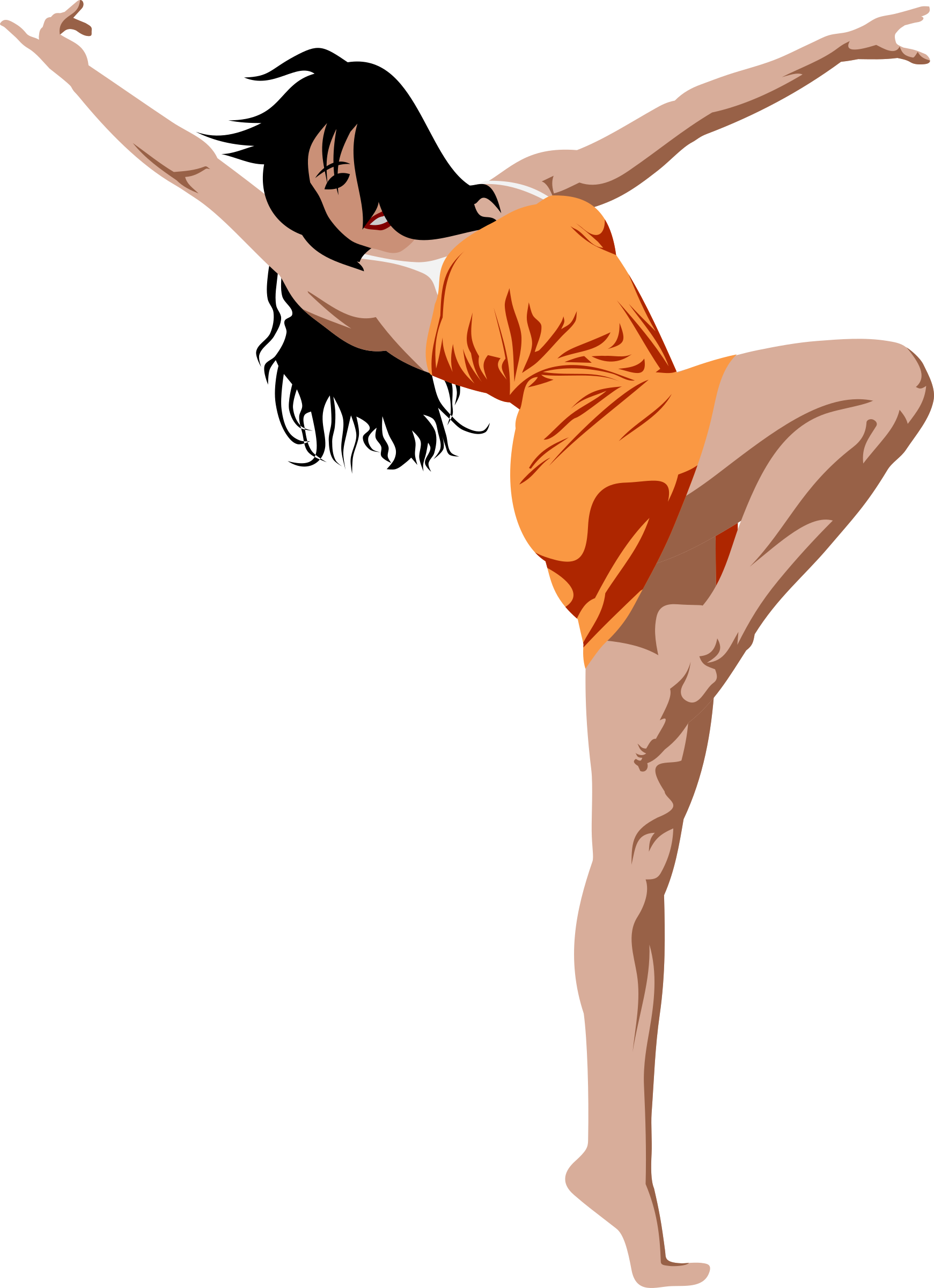 Female clipart dancing. Girl