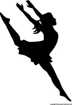 Female clipart dancing. Modern dancer silhouette panda