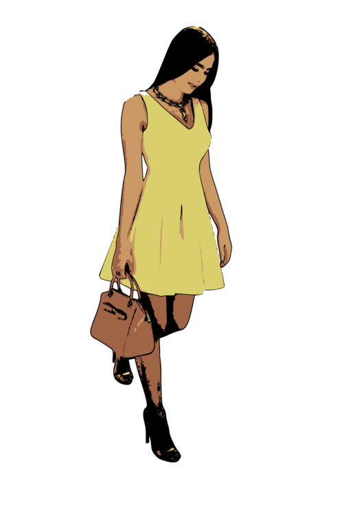 Female clipart fashion model. Dress woman download clothing