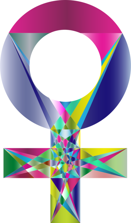 Female clipart graphic designer. Geometry gender symbol abstract