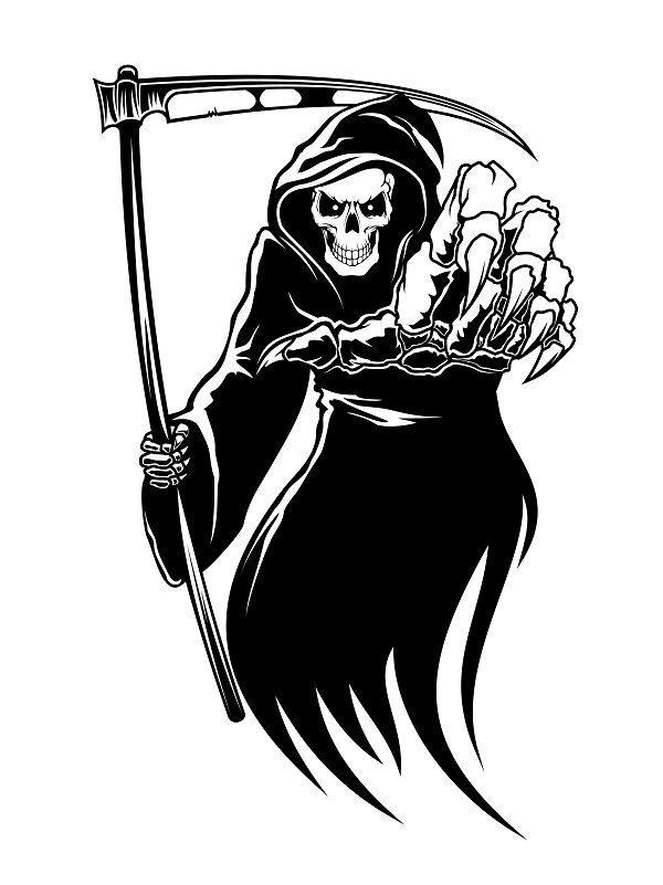 Female clipart grim reaper. Emo painted cakes pinterest