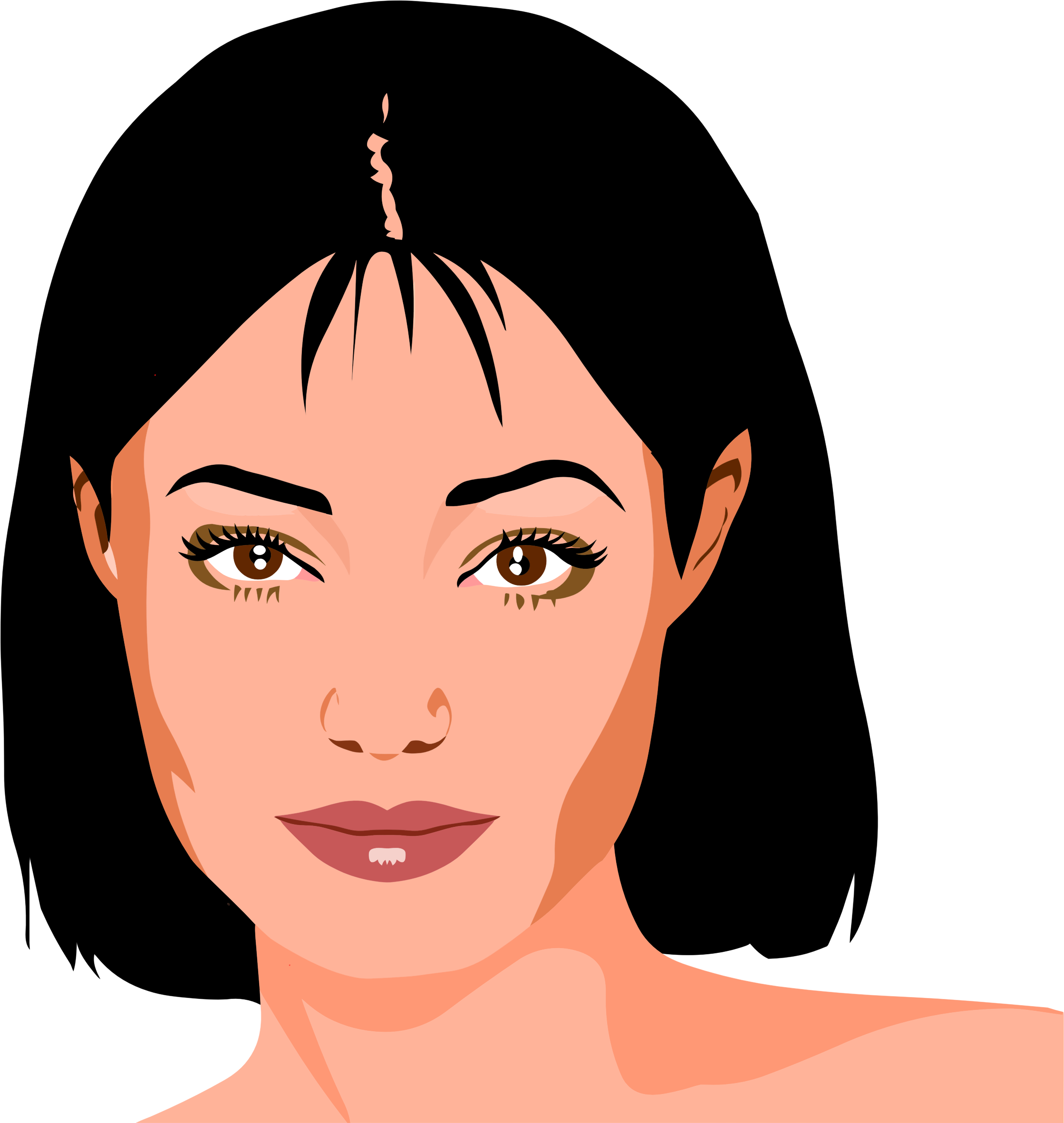 Female beautiful frames illustrations. Woman clipart free library
