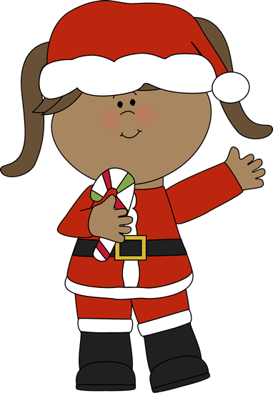 Female clipart santa claus. Free girl christmas cliparts