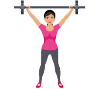 Female clipart weightlifting. Search results for lift