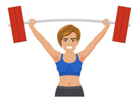 Female clipart weightlifting. Search results for clip