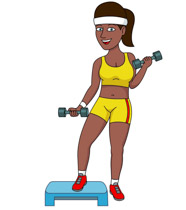 Female clipart weightlifting. Search results for weights