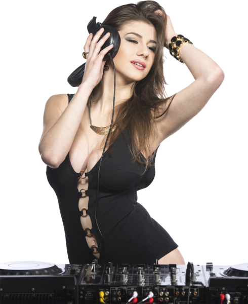Female dj png. Girl psd official psds