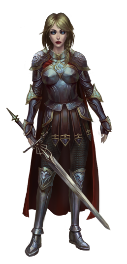 female knight png