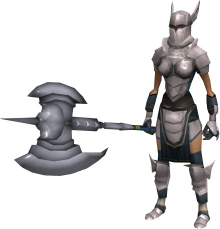 Female knight png. White invasion of falador