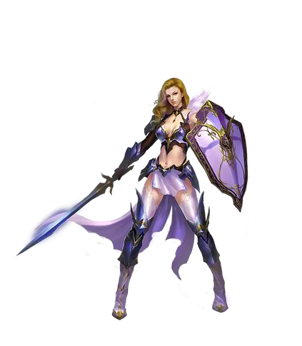 Class drawing female character. Image knight png wartune
