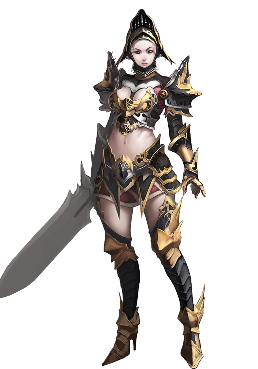 Female knight png. Ao lady by vegetagirl