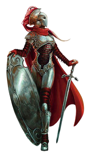 Female knight png. Medieval render by dgamer