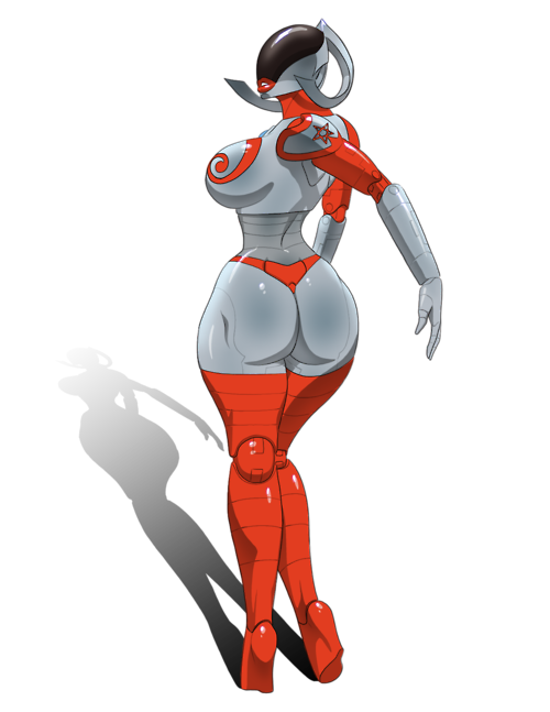 Female robot png. Retro futuristic dungeons and