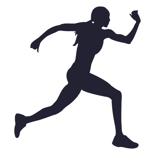 Female runner silhouette png. Athlete at getdrawings com