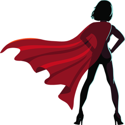 Female superhero silhouette png. Invisible resources