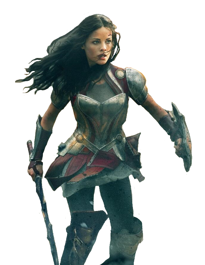 Female thor png. Sif jaimie alexander lady