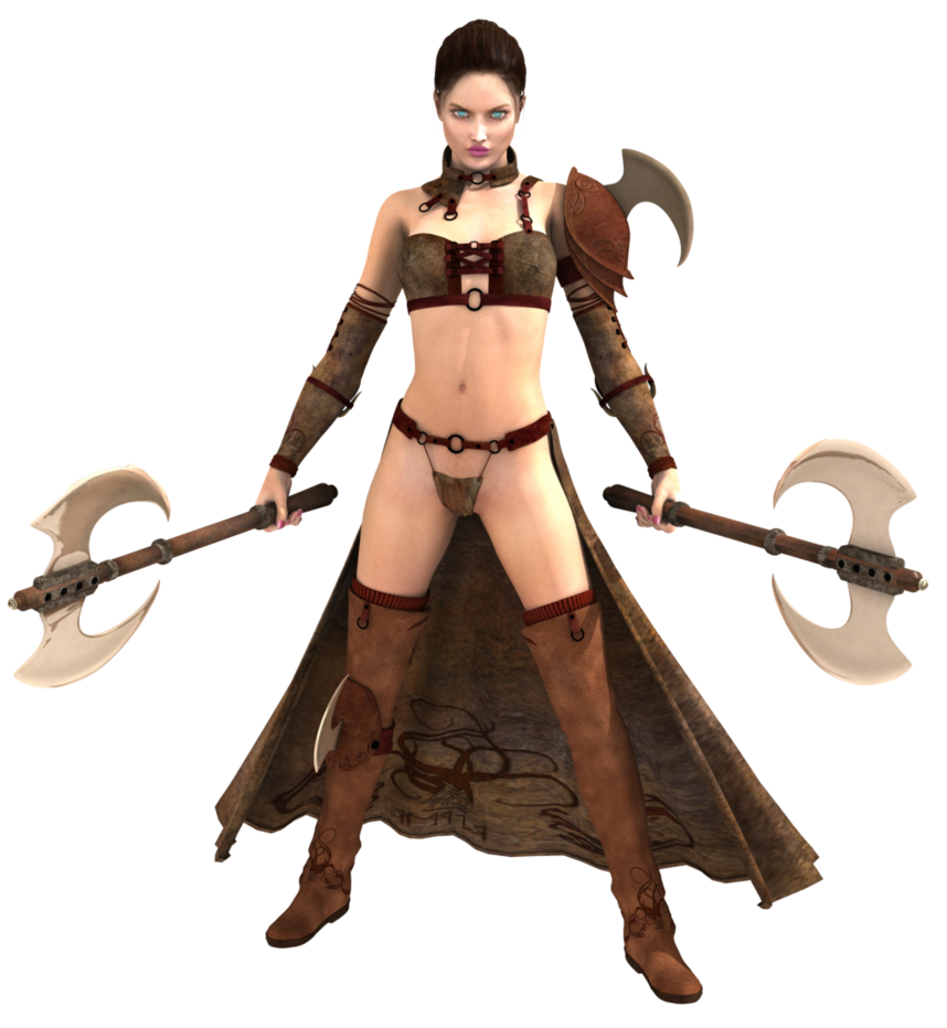 Female warrior png. By hz designs on