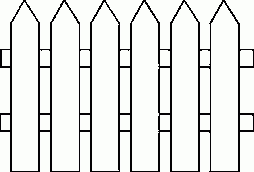 Fence clipart. Black and white animehana