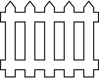Fence clipart. Picket etsy white wooden