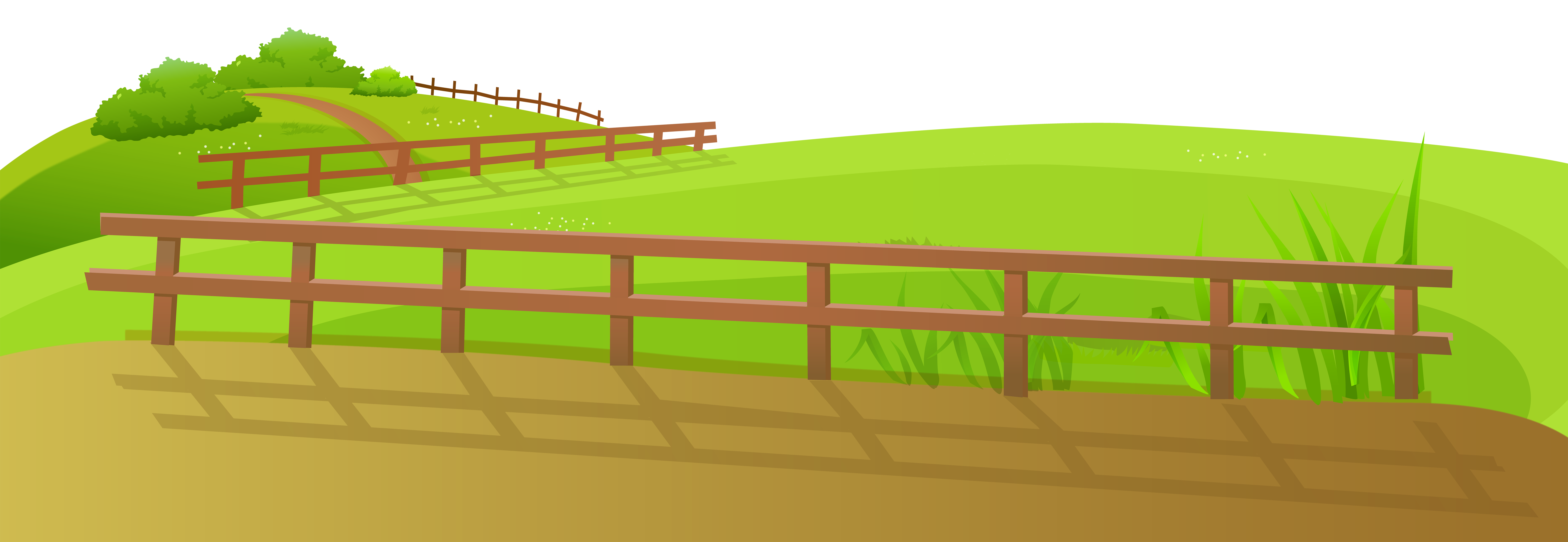 Fence clipart barn fence. Grass ground with png
