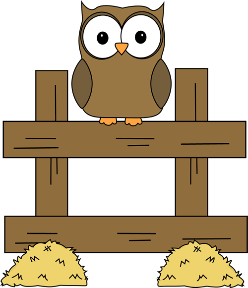 Fence clipart hay. Back cuteness pinterest owl