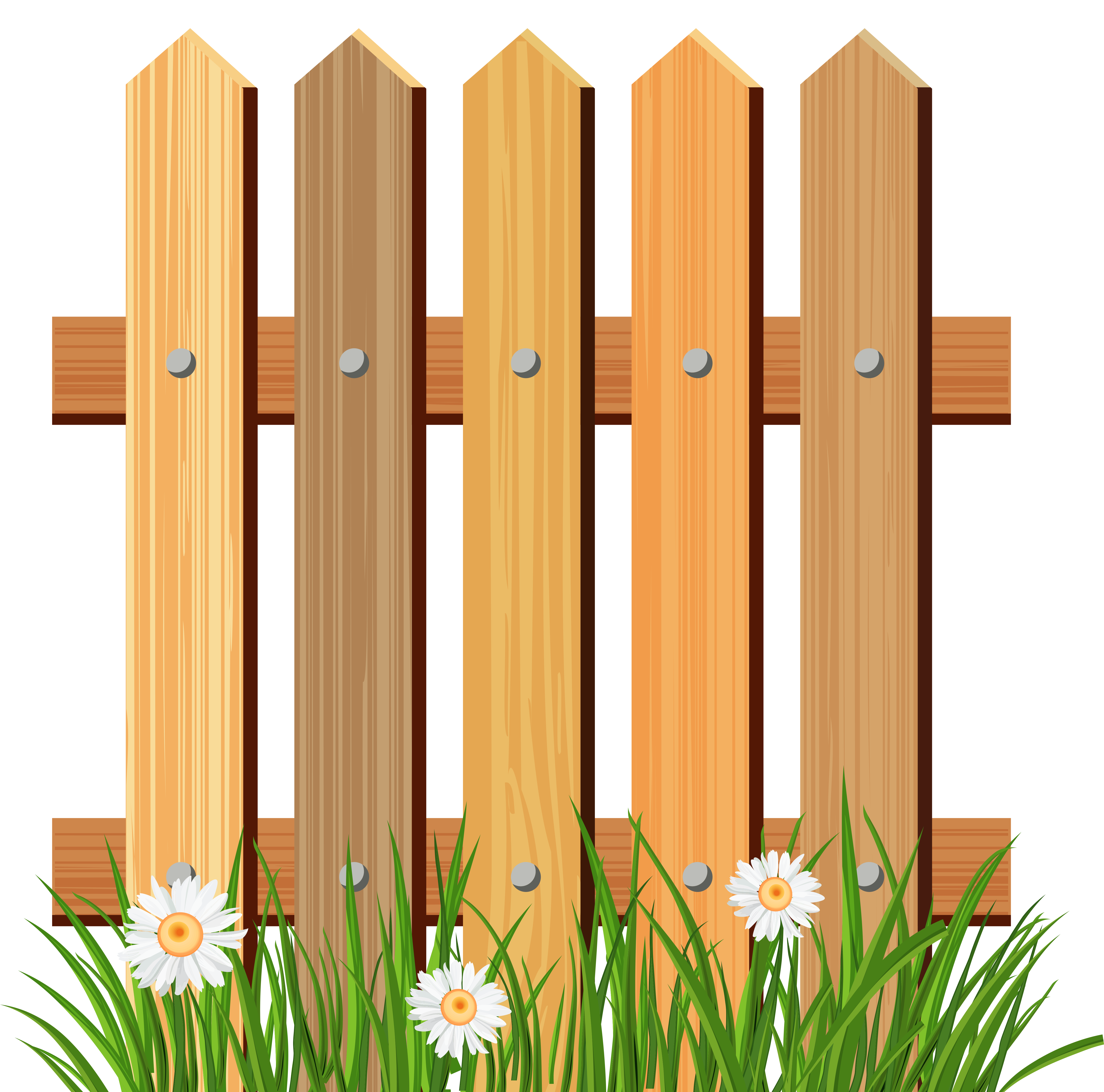 Fence clipart png. Wooden garden with grass