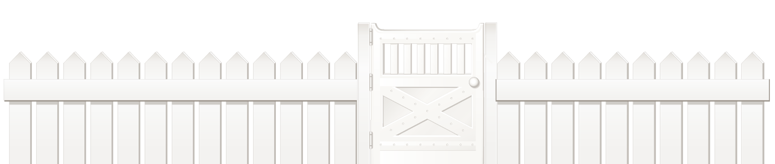 Picket Fence Gate Open
