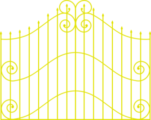 Fence svg chain. Golden clip art at