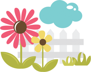 Fence svg cute. Flowers with file for