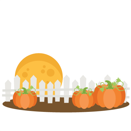 Fence svg cute. Pumpkins with cutting files