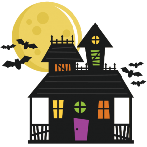 Fence svg haunted house. Miss kate cuttables cut