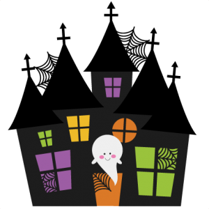 Fence svg haunted house. Halloween miss kate cuttables
