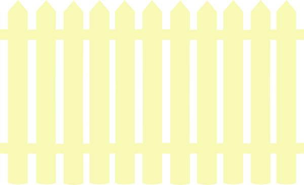 Fencing clipart fench. Cream picket fence clip