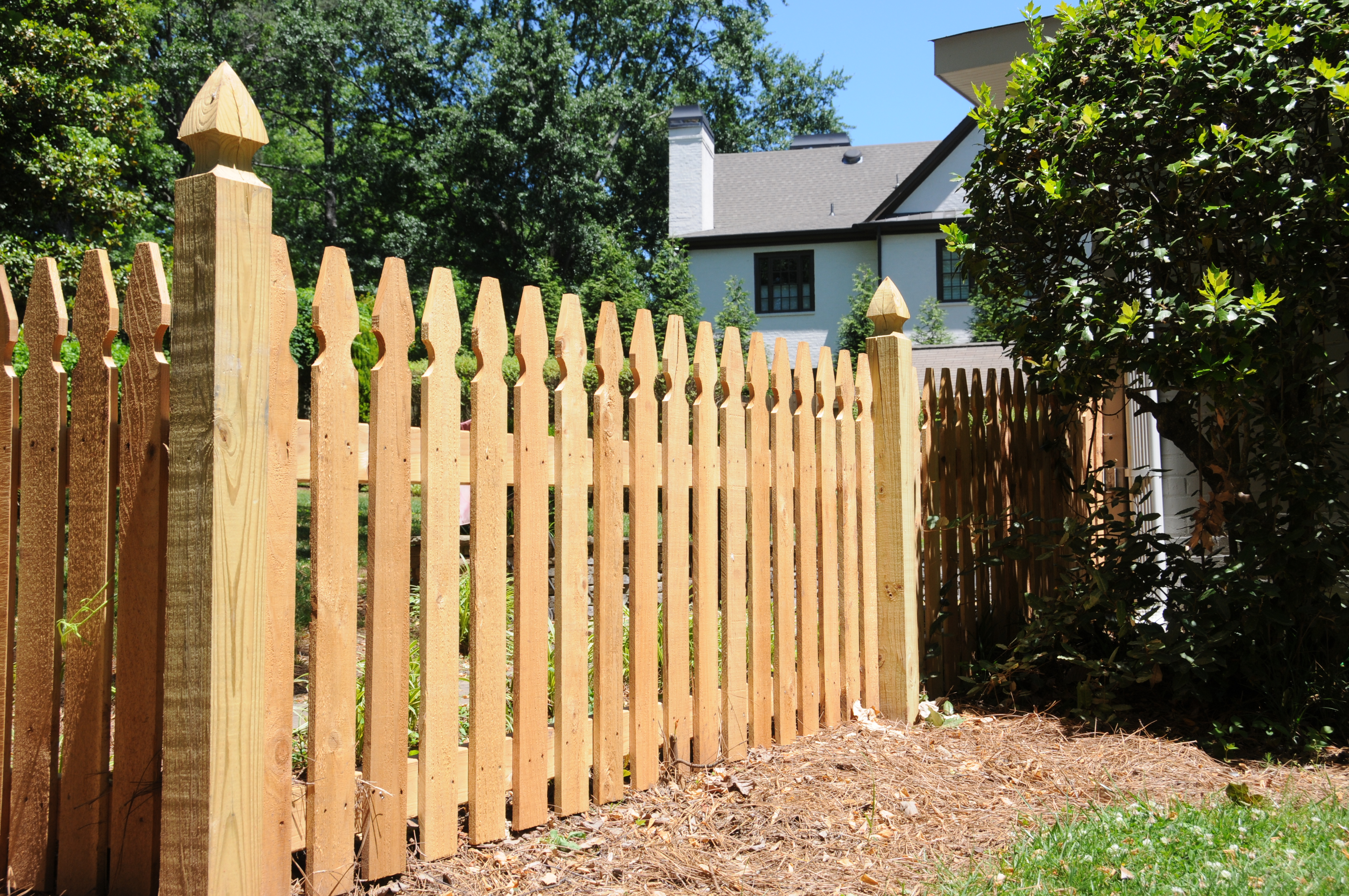 Fencing clipart fench. Standard cedar fence designs