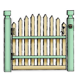 Fencing clipart fench. Best gates images
