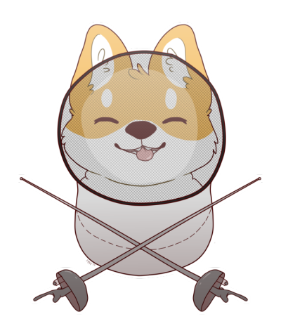 Fencing clipart fencing equipment. Tumblr shiba